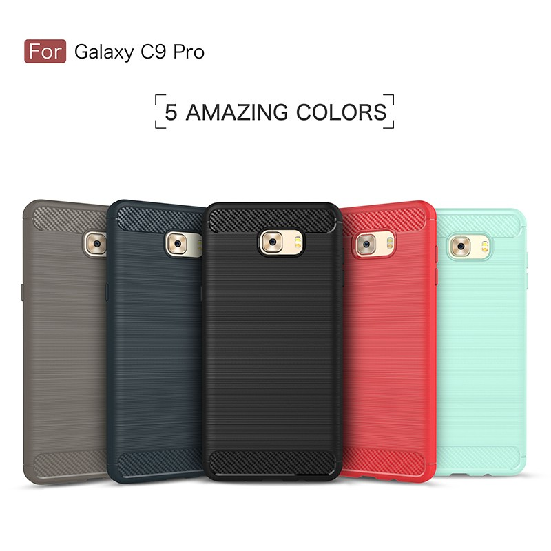 For Samsung galaxy C9 Pro phone case carbon fiber case mobile wholesaler