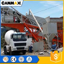 Brand new self-loading belt conveyering small ready mobile concrete mixing plant