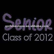 Senior Class of 2012 - Clear and Pink - Rhinestone Transfer