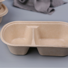 Disposable Unbleached Plant Fiber Salad Bowl