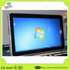 Wall mounted 46 Inch vertical lcd advertising monitor IR Touch Screen LCD Monitor All-In-One PC I3