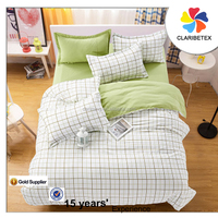 wholesales 100% Cotton cheap Hotel tartan Bed Sheet/quilt/pillow cover