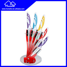 stainless steel non-stick colourful kitchen acrylic knife set