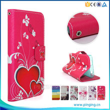 colored printing PU Leather Flip Cover case For Lenovo A1900,For Lenovo A1900 Wallet Case