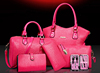 Hot sale 5 pcs in 1 set bag Lady handbag with shoulder bag+Totes+clutch+card holder ladies set bag