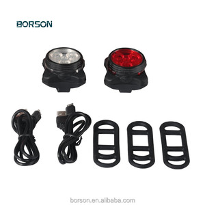 3 LED Small Bike Lights Front Headlight Warning Bicycle lights Rechargeable White Red color Waterproof LED Rear Bicycle Light