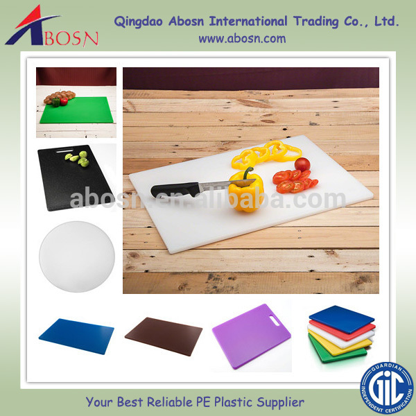 HDPE vegetable chopping board/different size of uhmwpe food cutting board