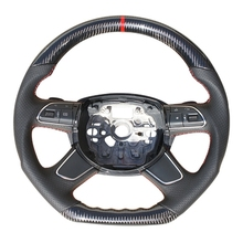 Auto Parts 100% Real Carbon Fiber Steering Wheel for A6L