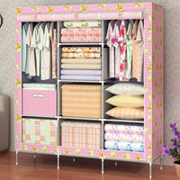 Huge size non-woven portable folding wardrobe T-160B
