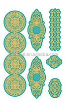 New 2015 Wholesale metallic temporary glow in the dark tattoo stickers