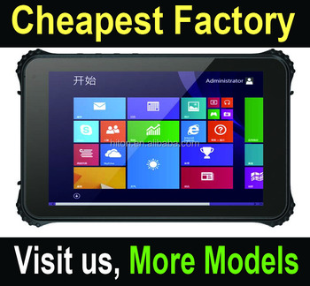 Highton Cheapest Factory 8 inch Intel Win10 or Android OS Quad-core IP67 Rugged Tablet PC handheld computer terminal