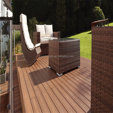 Modern Outdoor Reclaimed Flooring WPC Decking Timber Interlocking Composite Tiles Terrace Board