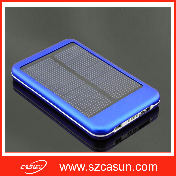 BSCI & TCCC Verified Manufacturer 5000mAh Mobile Solar Power Pack