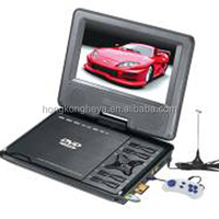 "Factory Offer Real size 7"" TFT LCD SCREEN (DVD +PAL/NTSC/SECAM analog TV system) Cheap Portable DVD Player HY759"