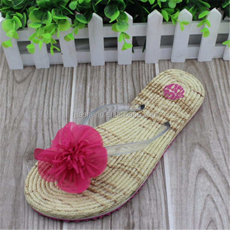 2017 Silk-like Flower Wood Strip Slipper Latest Dildos For Women