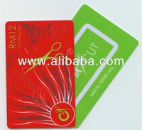 Vending Plastic Cards for Hair/Beauty Salon