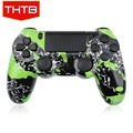New arrival green splash housing case for ps4 controller shell cover