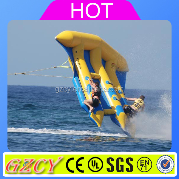 Hot Sale Inflatable Flying Fish Towable / Banana Boat Fly Fish / Inflatable Flying Fish Tube Towable