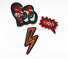 special design embroidery patches for clothes/drees/bag