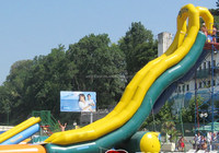 big kahuna inflatable water slide for kids and adult / adult size inflatable water slide