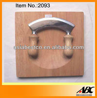 Chopper knife with wooden cutting board