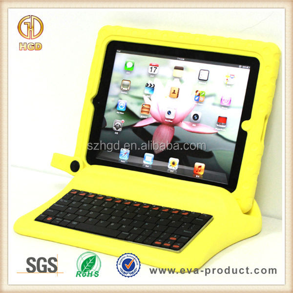 360 Removable eva foam bluetooth keyboard case for ipad 2/3/4