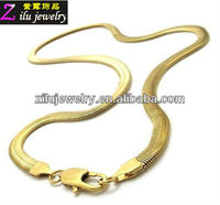 Stainless steel flat gold snake chain bulk snake chain 24k gold chain with cheaper price