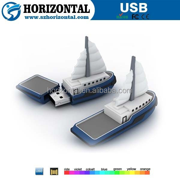 Bulk Cheap Multifunction Gift Novelty boat Shape USB Flash Drive 256MB 512MB 1GB 2GB 4GB 8GB 16GB 32GB 64GB