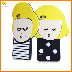 Doll lovely silicone cover for iphone 6s plus