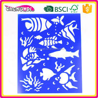 NON toxic plastic drawing stencil toy, plastic drawing stencil set, plastic drawing stencil