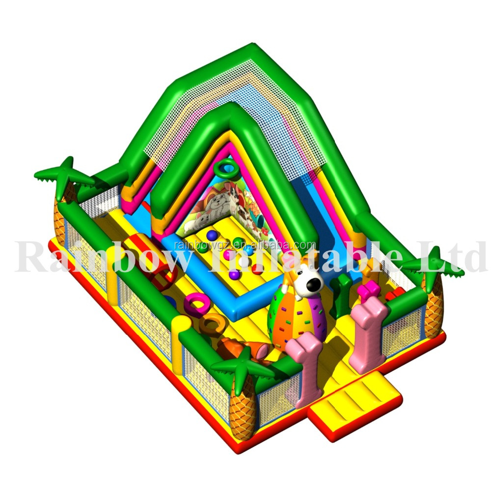 Inflatable Dog Bouncer With Ball Pool/ Inflatable Jumper Funcity Inflatable Bouncy Castle For Kids
