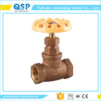 Factory direct sale brass non rising stem gate valve industrial