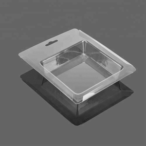 Clear PET Plastic Clamshell Cavity Blister Packaging