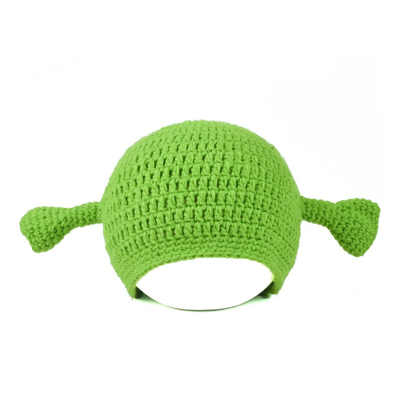 hot sale Children Unisex Cute Shrek Pattern Knit Hat
