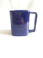 blue square coffee mug