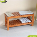 Wooden bathroom storage shoe stool furniture China Supplier