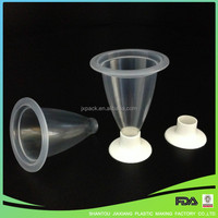 Disposable Plastic Clear Chocolate Cup With Feet