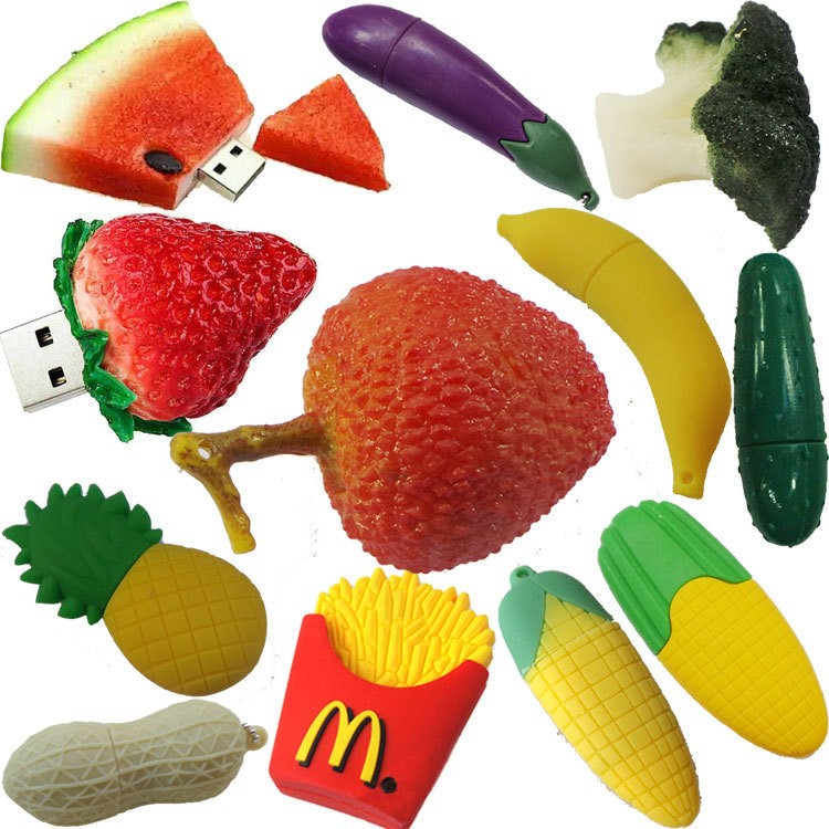 Pineapple Banana Fruit Series PVC USB Flash Drive 1GB 2GB 4GB Pendrive Memory Stick