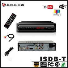 JUNUO tv box factory manufacture Philippines HD 1080p angola to digital isdb-t decoder