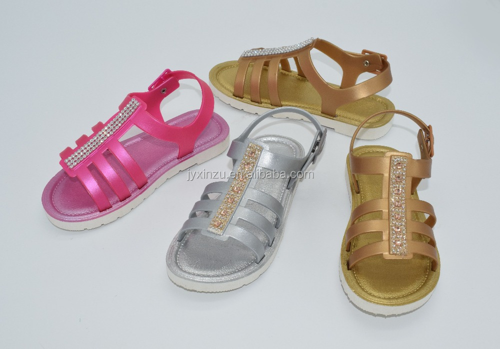 Fashionable Low Price Daily Life Comfort Ladies Flat Sandal Shoes