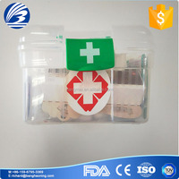 Plastic case first aid kit, travel sports outdoor activities first aid kit