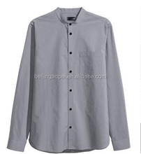 Tops clothing bulk bespoke cotton chinese collar designs business bangladesh shirts for men