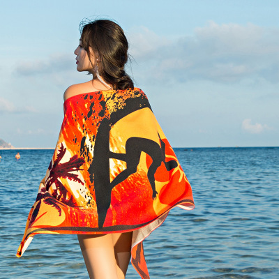 Hot Selling Logo Custom Poncho Beach Towel <strong>Cotton</strong>