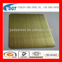 bronze finish stainless steel sheet