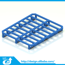 Double faced galvanized stainless stackable steel pallet