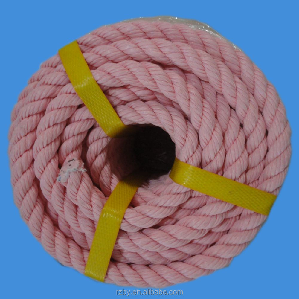 color plastic rope for fishing and shipping and mooring