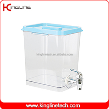 Adult 1 Gallon square collapsible plastic milk pitcher with spigot supplier OEM (KL-8021)