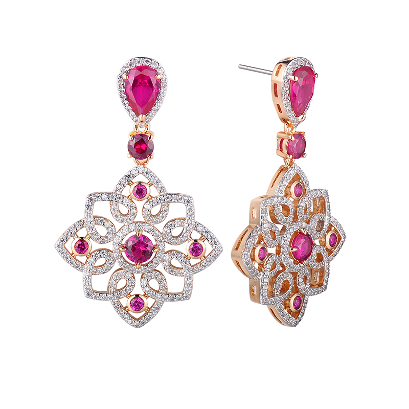 Natural Gemstone Jewelry 18 K Gold Jewelry 18k Solid Gold Earring