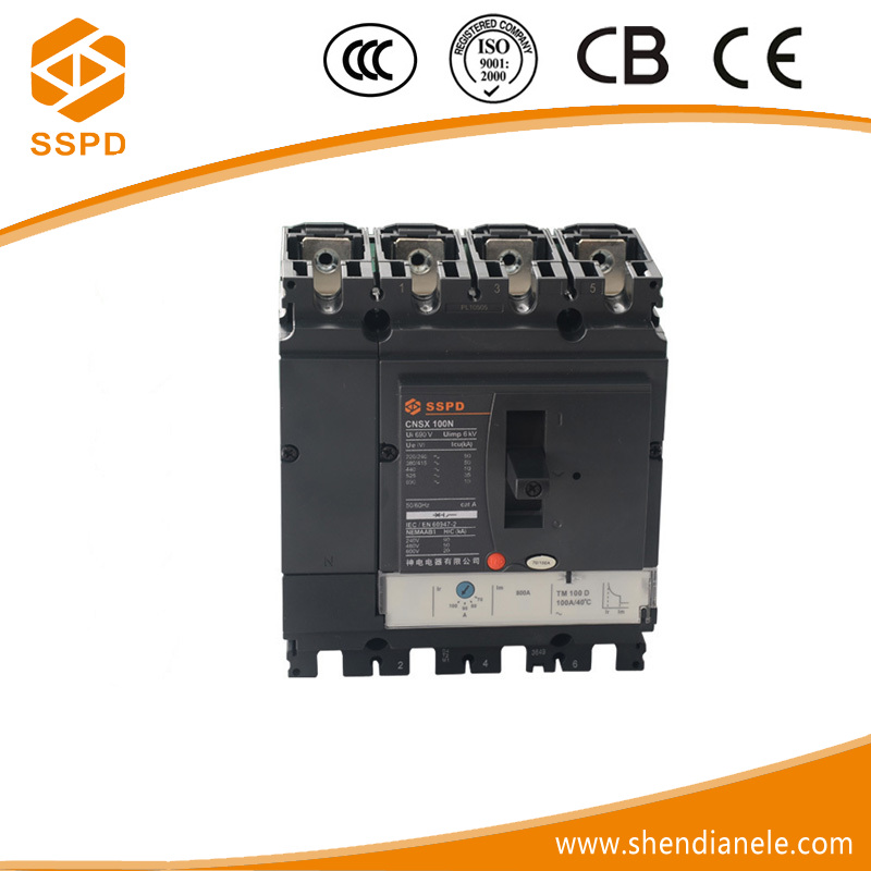 china supplier manufacturer 100amp trip coil black body easypact mccb 4p 100a circuit breaker molded case nsx 4p 50a mccb