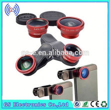 Cell Phone Camera Lens Detachable 3 in1 180 Fisheye+Wide Angle+Macro Cell Phone Camera Lens